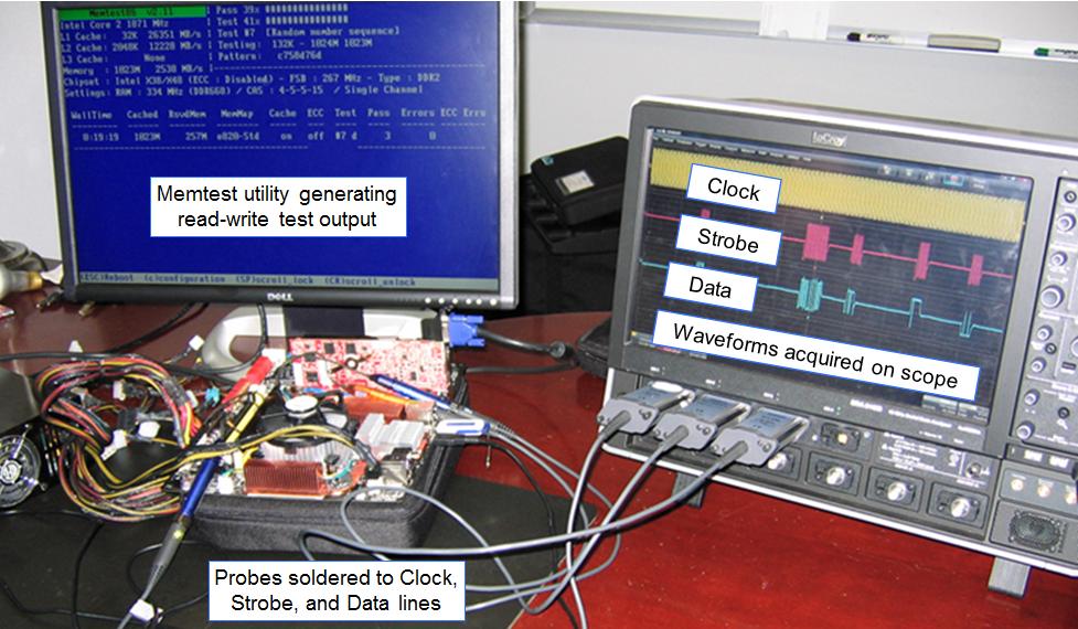 DDR test configuration for a desktop computer