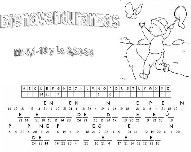 Parroquia La Inmaculada: Actividades sobre las bienaventuranzas