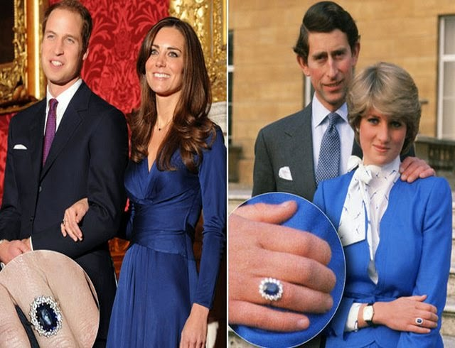 Prince William Proposed To Princess Middleton Using The 18 Carat Shire And Diamond Engagement Ring That Belonged His Mother It S A Dazzling Oval