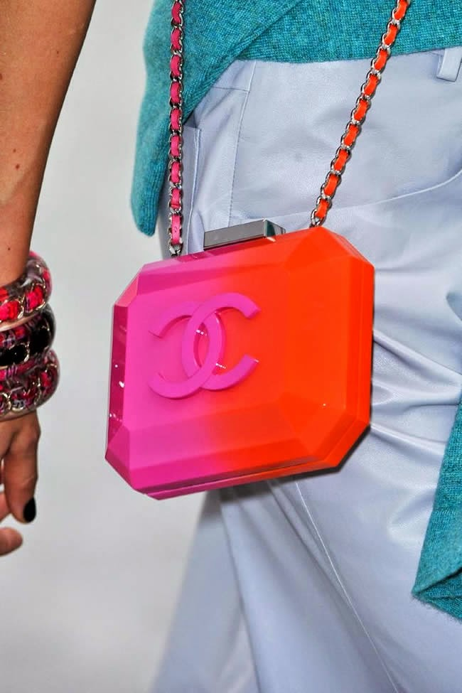 Pink and Orange Chanel purse