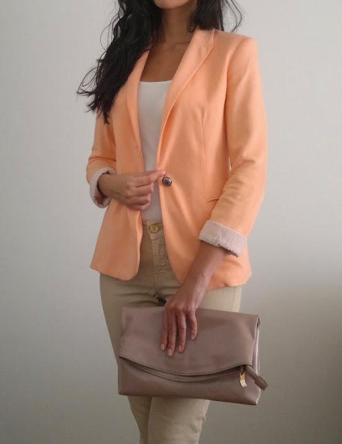 orange blazer zara