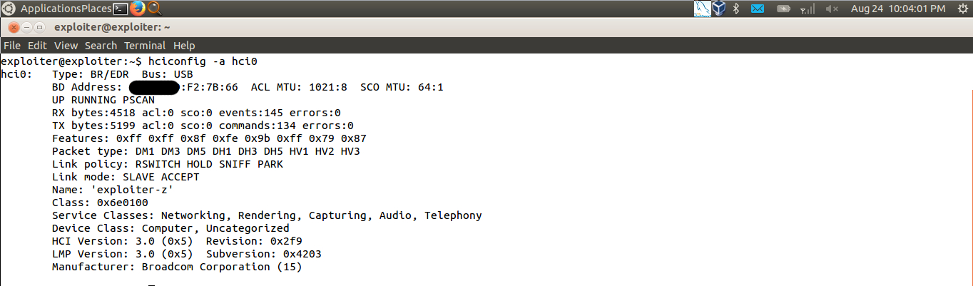bluetooth configuration spoofed