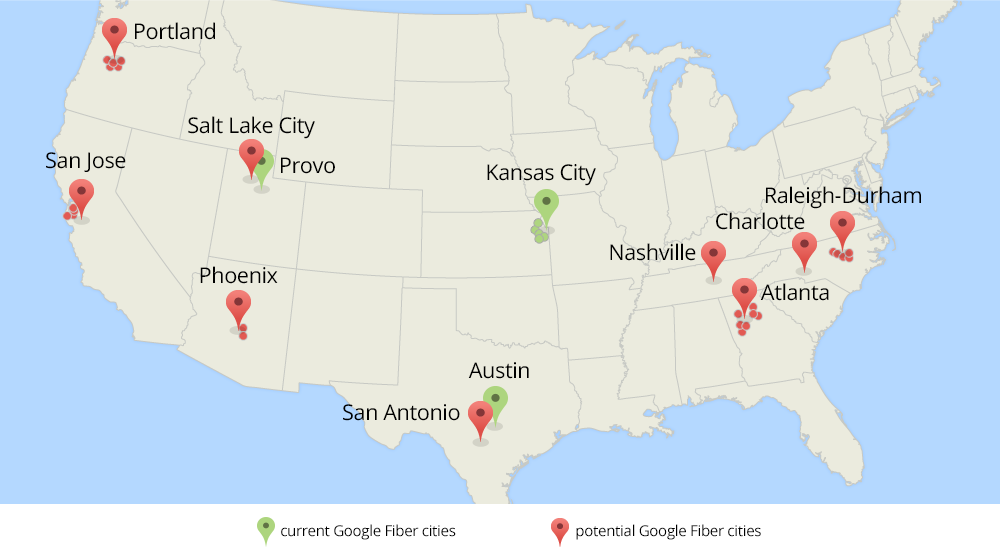 Google Fiber expansion to 9 metro areas