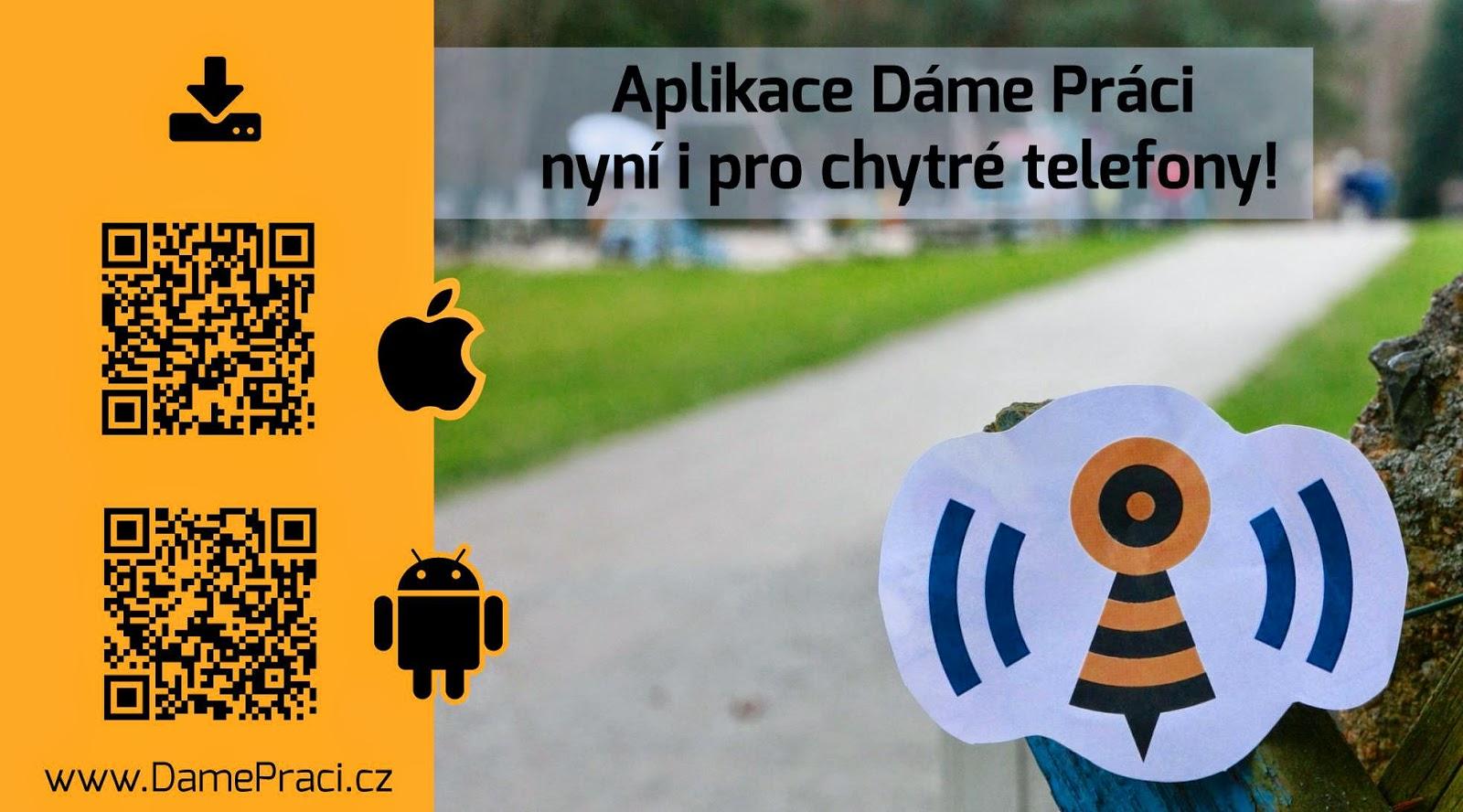 Aplikace DámePráci.cz pro chytré telefony