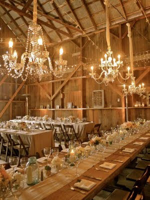 Chandeliers are beautiful and work perfectly in rustic garden or formal