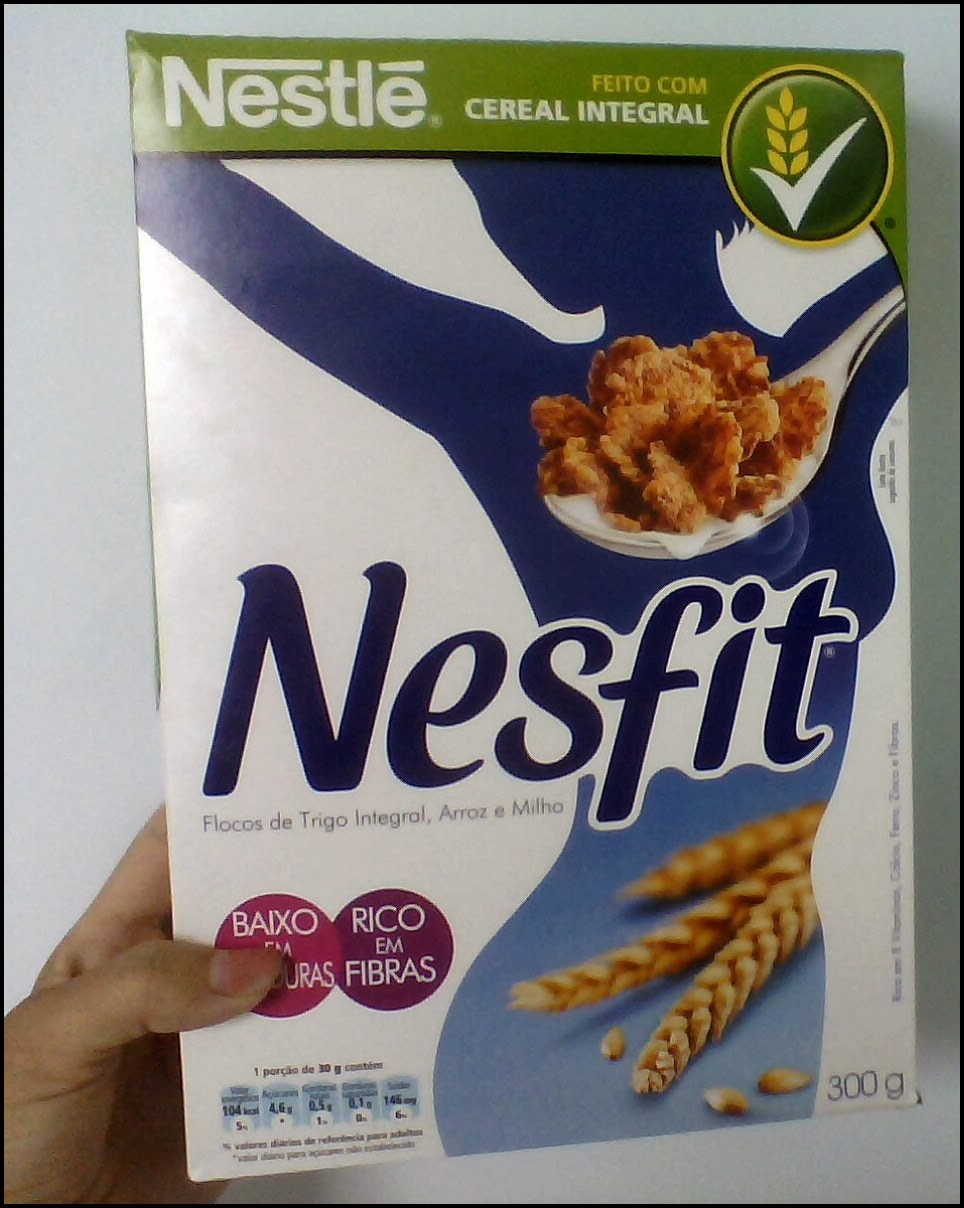 cereal nesfit, rico em vitaminas e minerais.