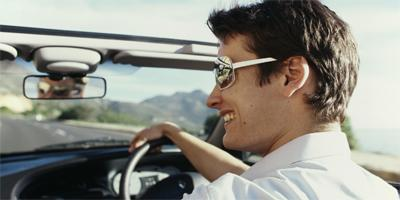How To Be Happy With Yourself - man driving a car