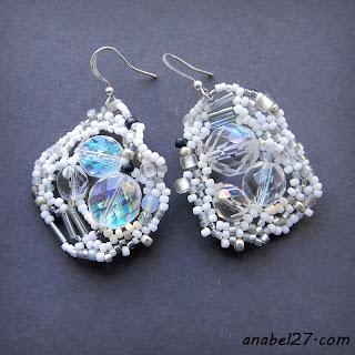 boho bohemian jewelry beadwork earrings white wedding bride