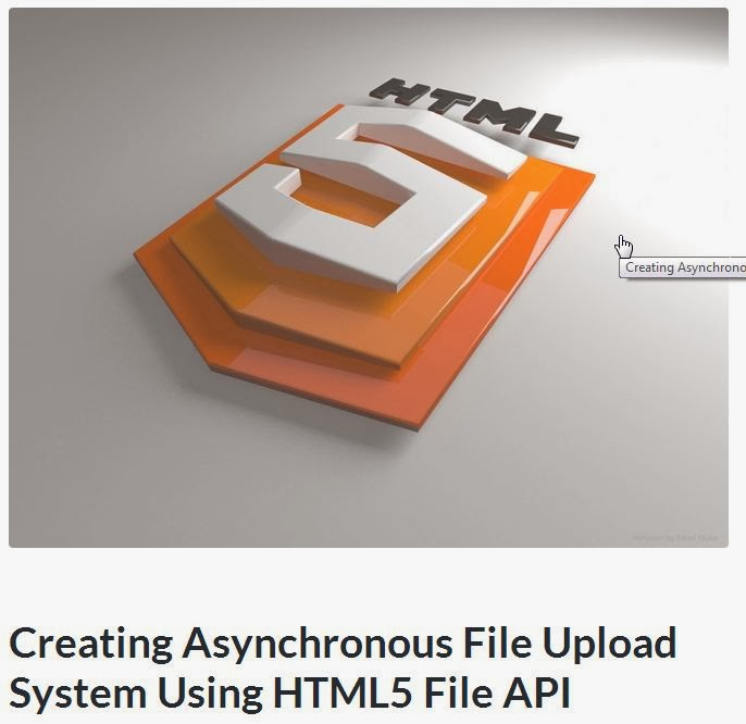 Tutorial Upload File Using HTML 5 with File API