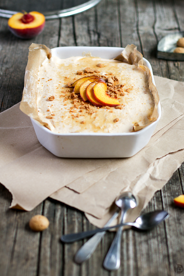 Peaches & Amarettini Cheesecake Bowl
