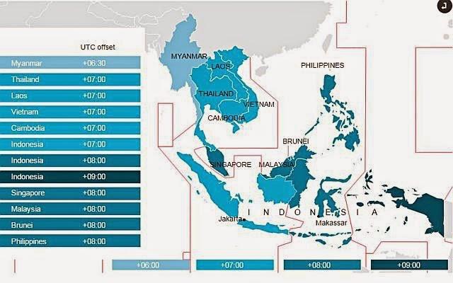 Zeitzonen ASEAN