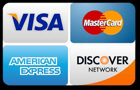 We Accept Cash, Checks, Credit & Debit Cards and PayPal Accounts