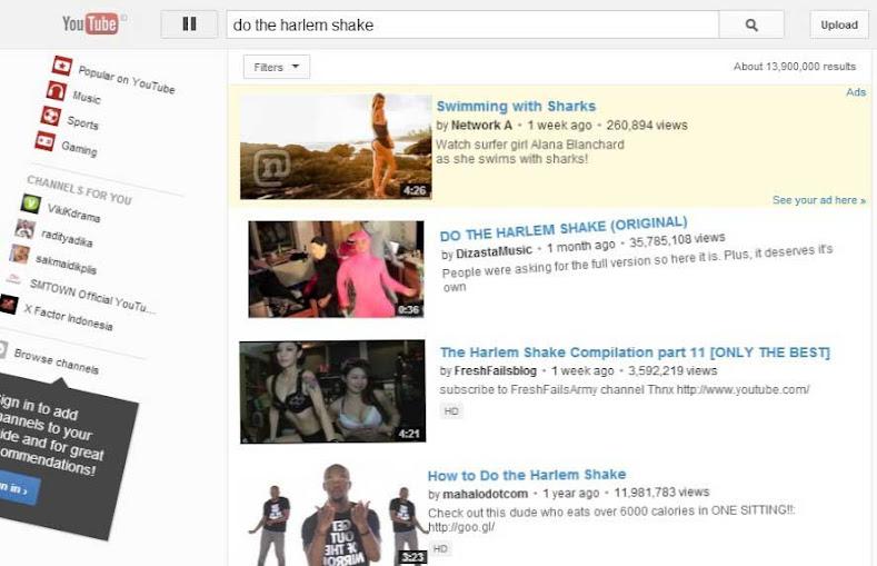 youtube harlem shake - sarimin