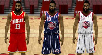 NBA 2K13 Houston Rockets Classic Jersey Pack Mod