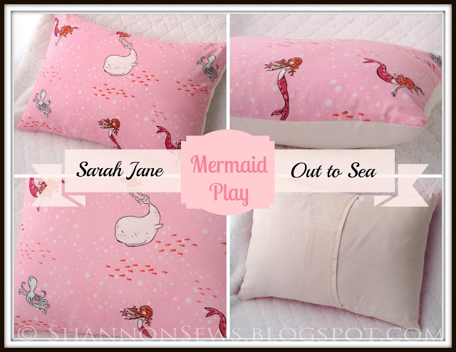 Girl Or Child Pink Mermaid Pillow Case Perfect For Nursery Or Bedroom