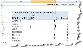 Tabla dinámica: Campos de página personalizados.