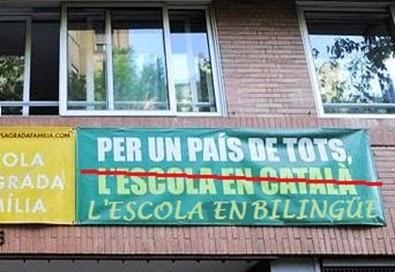 Escola SOLO en catalán: esto NO