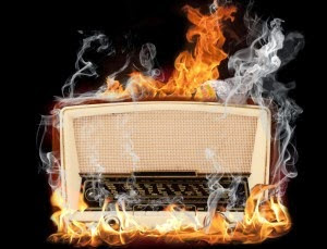 burning radio