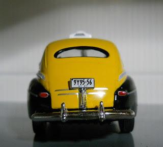 coche en miniatura taxi de Nueva York ford fordor