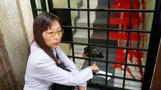 Pejabat Teresa Kok Disimbah Cat Merah
