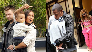 Celebrity Baby Kisses - Alicia Keys' Son Egypt Kissed Blue Ivy