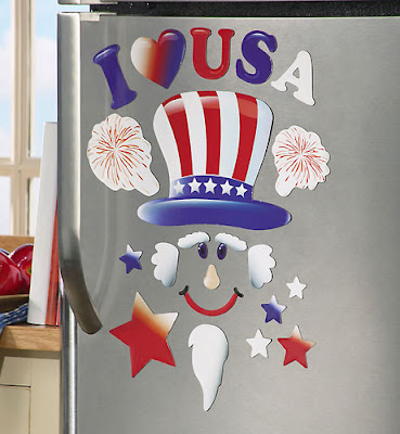 Patriotic I Love Usa Decorative Magnets