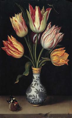 Ambrosio Bosschaert - TULIPS IN A WAN-LI VASE c. 1619