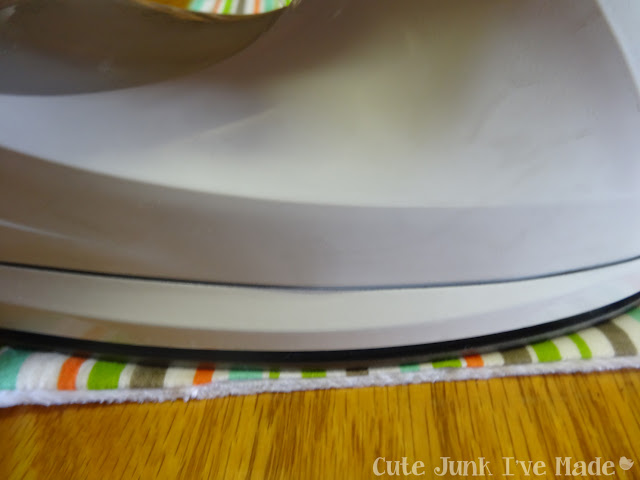 One-Hour Burp Cloths - Ironing the gap