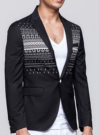 geometric blazer