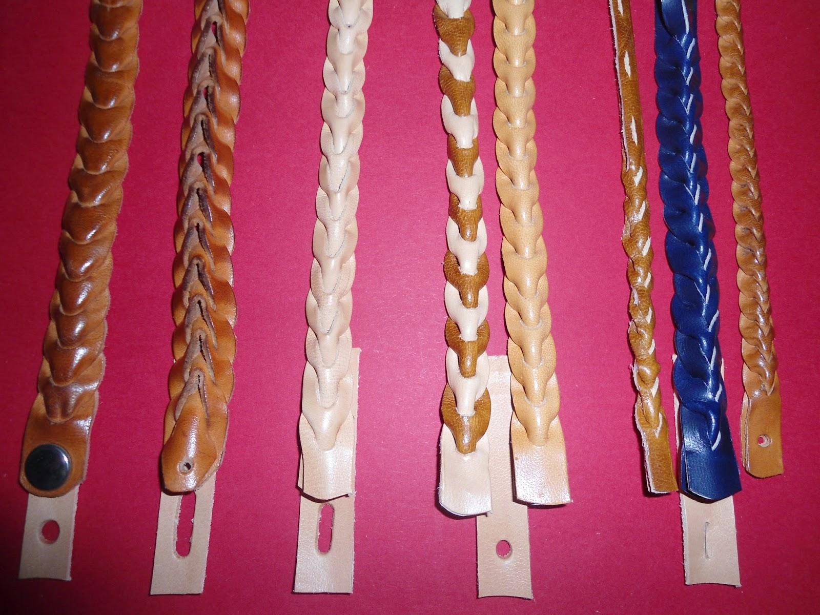 La ventana del cuero Como hacer pulseras de cuero de dos tiras