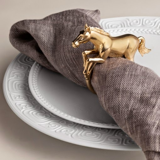 L'Objet Place Card Gold Horse