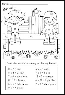 math worksheet : classroom freebies pumpkin multiplication facts coloring worksheet : Multiplication Fun Worksheet
