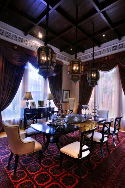 تصميمات رائعه لغرف المعيشه المغربيه  Exquisite-moroccan-dining-room-designs-5