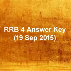 RRB answer key 2015 for 19 sep