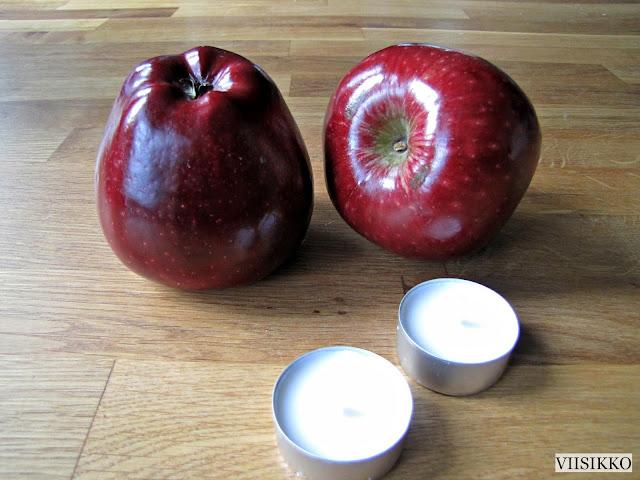 omenasta kynttilänjalka