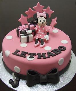 Beautiful Minnie Mouse Birthday Cake