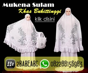 Mukena Sulam Khas Bukittinggi