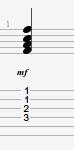 F guitar chord | half-barre