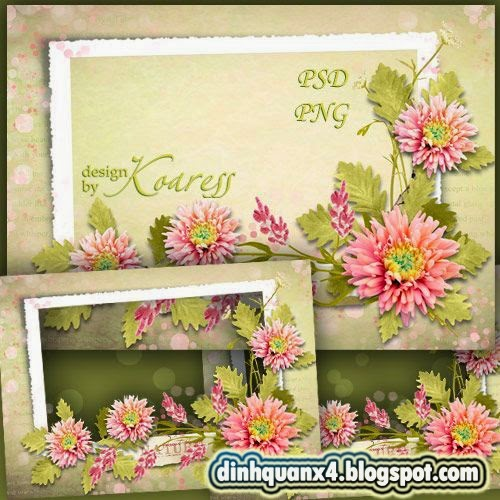 Photo frame - Floral romantic