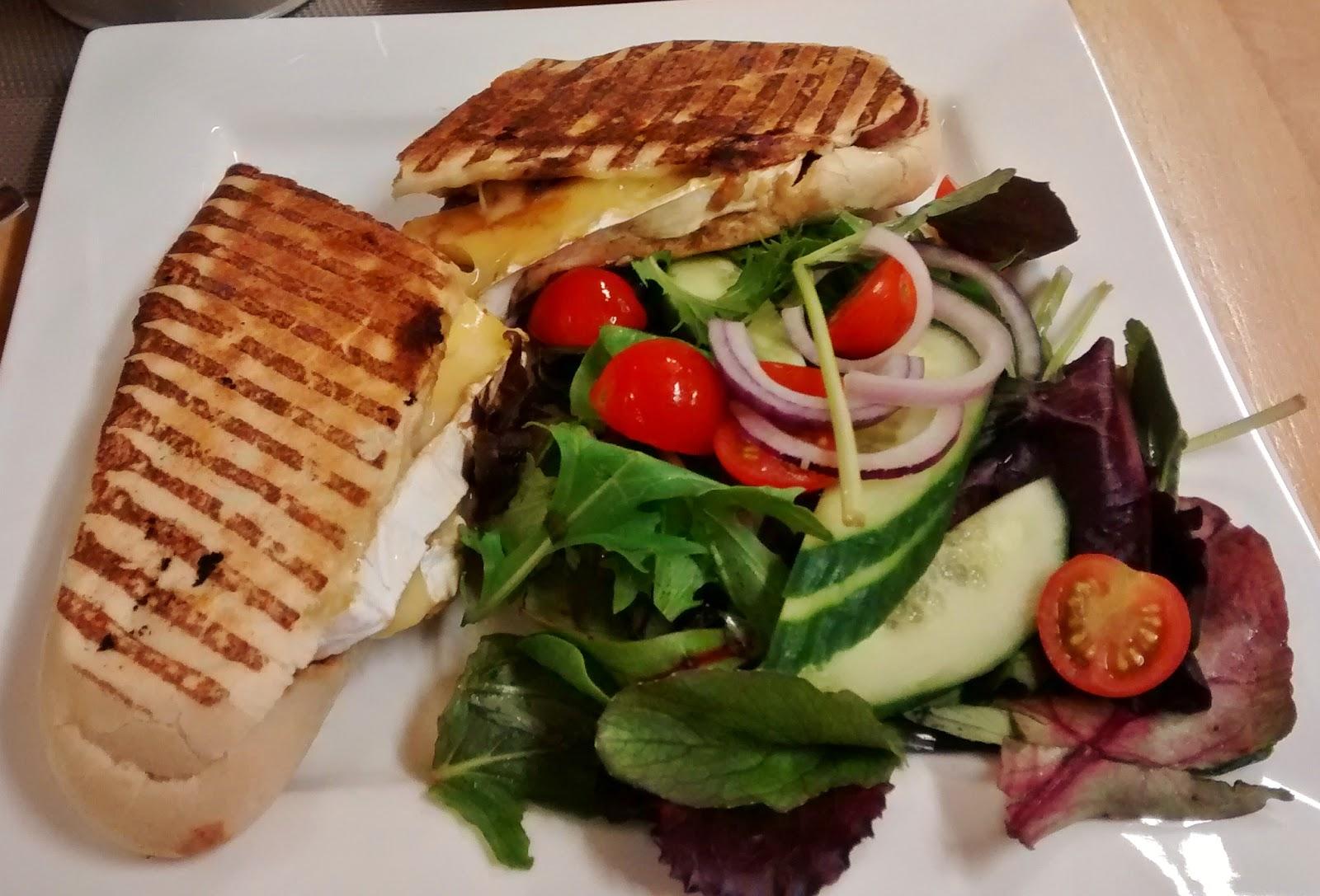 salad, healthy, panini