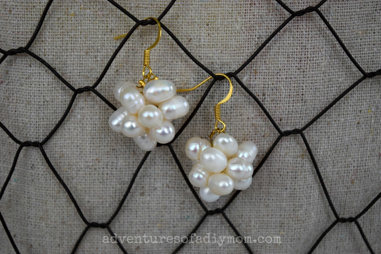 DIY Pearl Cluster Earrings
