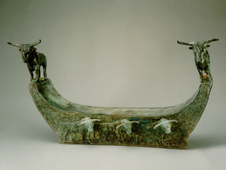 Western Han bronze Pillow