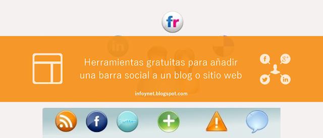 Herramientas gratuitas para añadir una barra social a un blog o sitio web