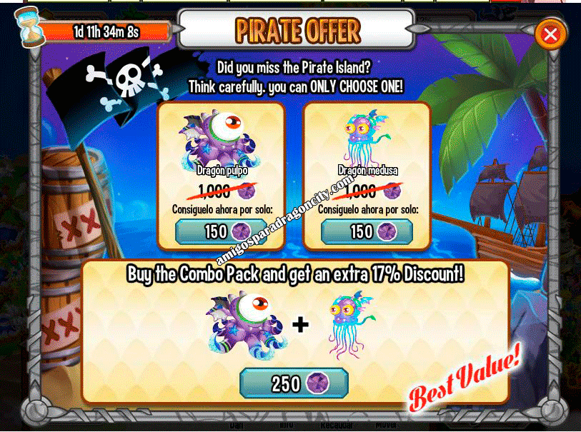 imagen de la oferta pirata de dragon city