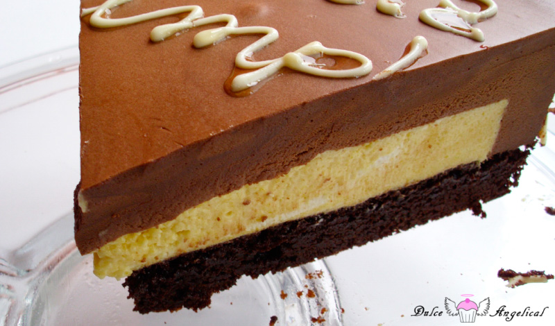 Tarta de brownie,  mango y  chocolate-portada-3