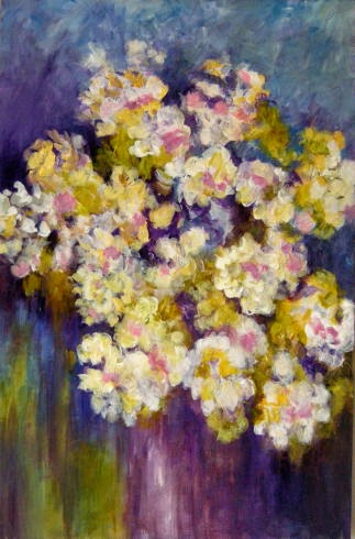 Feeling Flowers (2014) Margaret Ryall acrylic on cradled panel