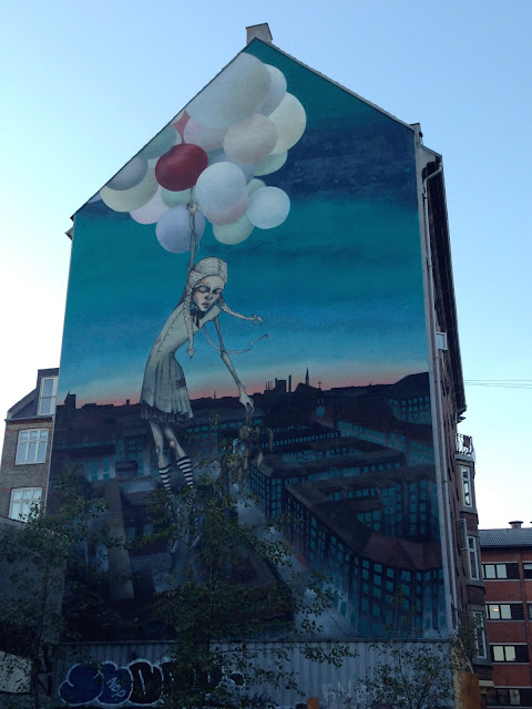Gavlmaleri 'The Great Escape', Odinsgade 17, Nørrebro