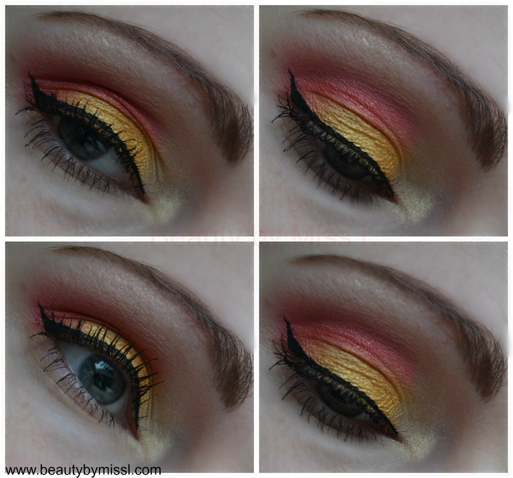 bright yellow and pink eye makeup with Vivo Cosmetics Show Me The Money eye shadow palette