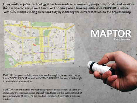 Maptor – a Map and a Projector 2 in 1  Seen On www.coolpicturegallery.us
