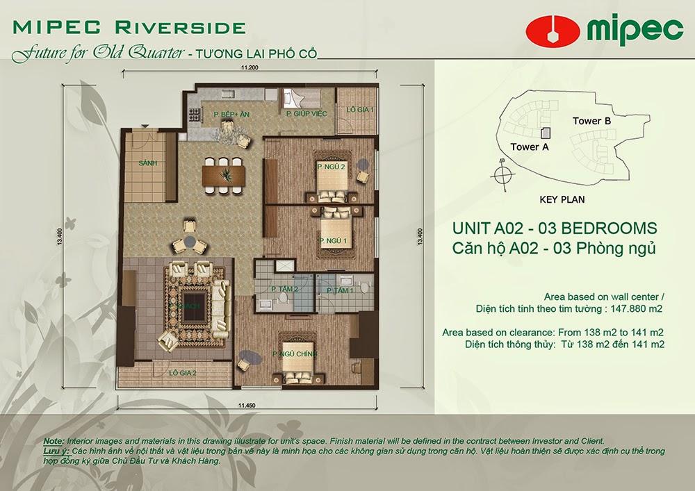 Căn A02 cư xá Mipec Riverside